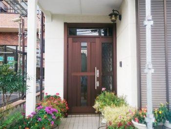 【郡山市】一日で玄関ドアの交換を!(望月)